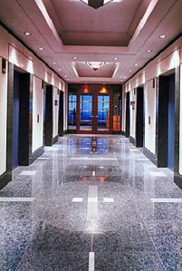 Office property lift foyer