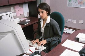woman working in office