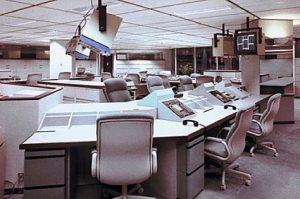Security control room in office building