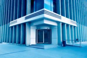 office building front door
