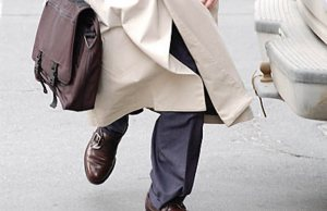 Commercial real estate agent walking to appointment