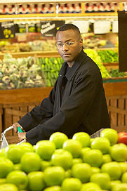 man in fruit shop