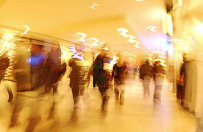blur of people walking
