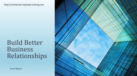 better business relationships in commercial real estate sml