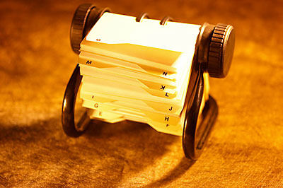 address book rolodex