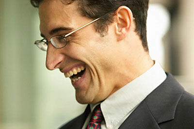 A laughing businessman