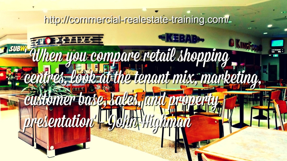 Methods of Comparing Shopping Centers and Retail Performance