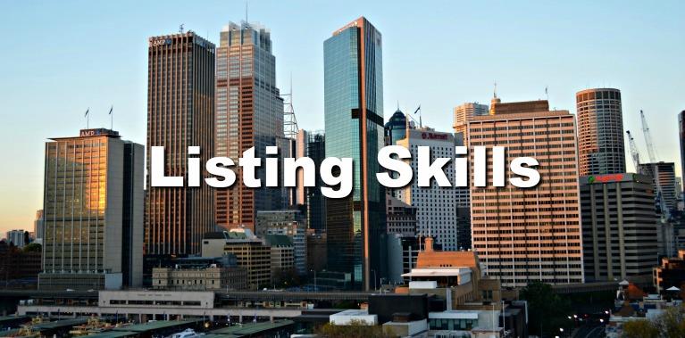 listing skills